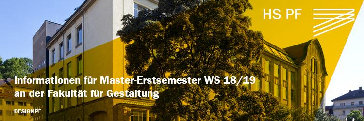 Informationen für Master-Erstsemester DesignPF