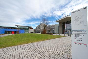 Ansicht auf W-Gebäude