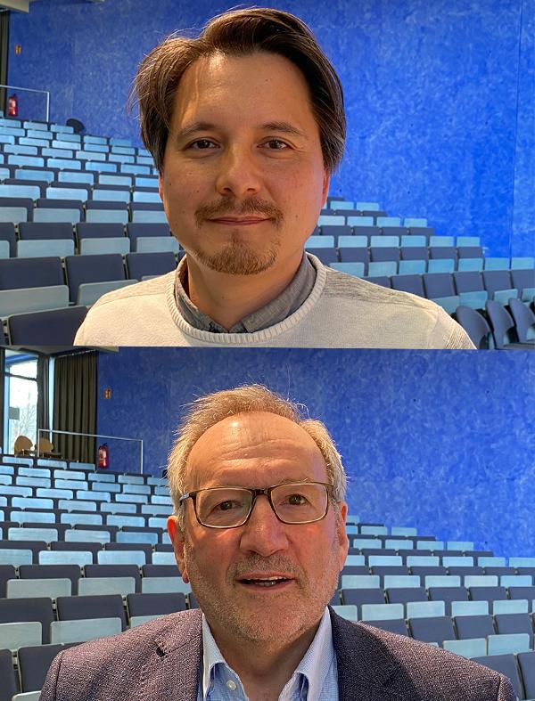 Die Köpfe der AHP: Professor Dr. Sascha Wolf (oben) und Professor Dr. Reinhard Rupp. Fotos: Axel Grehl